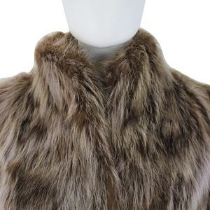 Vintage Jackets & Coats - Vintage Raccoon Fur Long Belted Waist Trench Coat